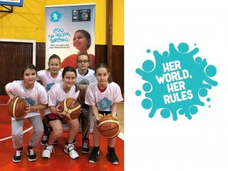 "Young Angels Academy projektu ""HER WORLD, HER RULES"""